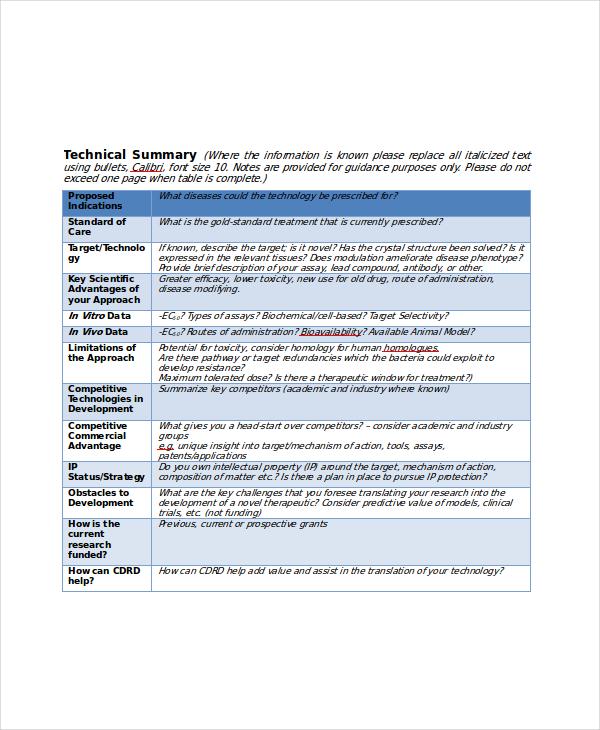 10+ Project Summary Templates - PDF, DOC Free  Premium Templates