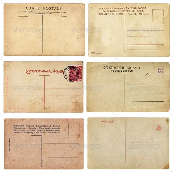 15+ Old Postcard Templates \u2013 Free Sample, Example, Format Download