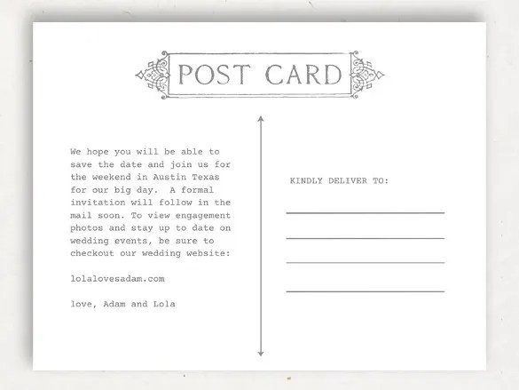 13+ Postcard Templates For Mac \u2013 Free Sample, Example Format - printable postcard template free