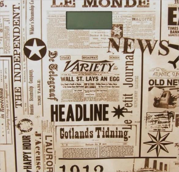 15+ Newspaper Headline Templates u2013 Free Sample, Example, Format - newspaper headline template