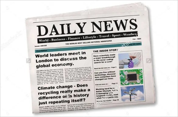 15+ Newspaper Headline Templates \u2013 Free Sample, Example, Format