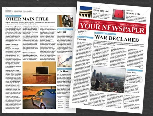 8+ School Newspaper Templates \u2013 Free Sample, Example, Format