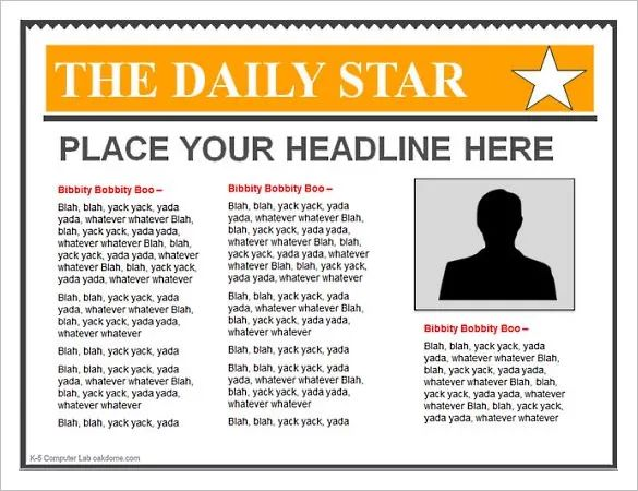 newspaper headline template powerpoint free
