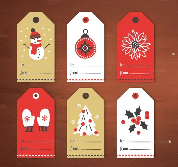 24+ Favor Tag Templates \u2013 Free Sample, Example Format Download - christmas tag template