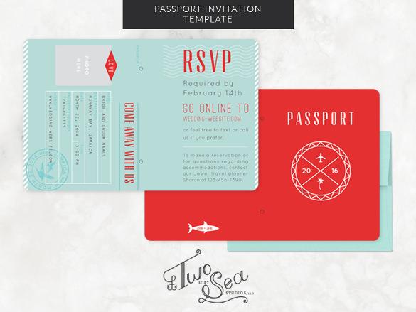Passport Invitation Template \u2013 13+ Free PSD, Vector EPS, AI, Format - passport template