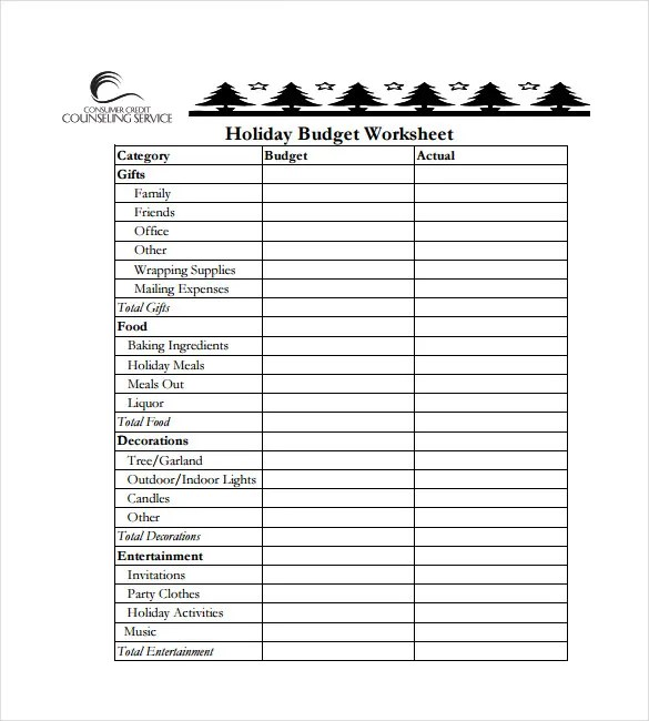 Budget Spreadsheet Template - 3 Free Excel Documents Download Free