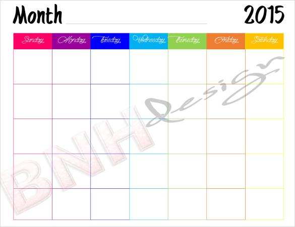 39+ Blank Calendar Template Free  Premium Templates - Printable Blank Calendar