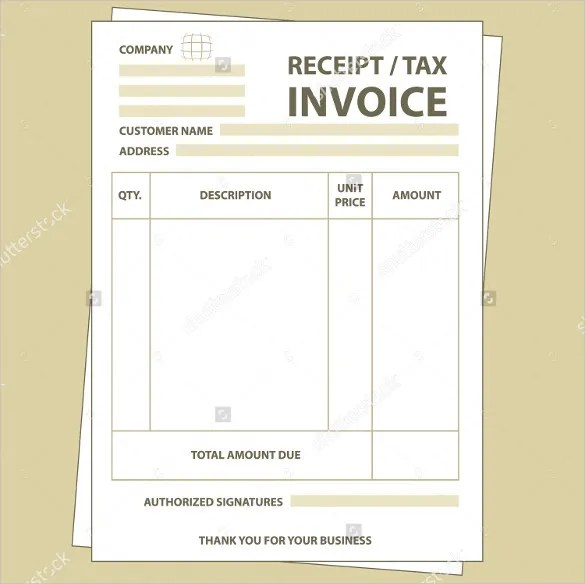 Mychjp Page 18 Template Forms For Business Template Invoices