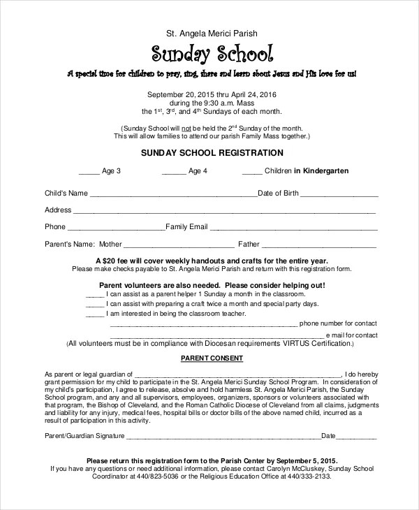 Sunday School Certificate Template - 5+ Free Word, Excel, PDF - sample school certificate