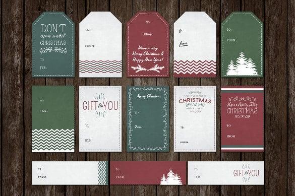 Gift Tag Template - 27+ Free Printable Vector EPS, PSD , AI - christmas tag template