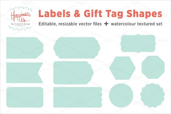 Gift Tag Template - 27+ Free Printable Vector EPS, PSD , AI