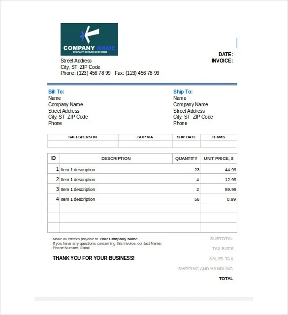 sales invoice template excel trattorialeondoro - invoice sale