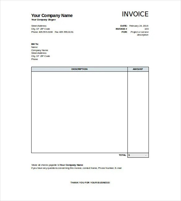 free basic invoice template - 28 images - simple invoice template