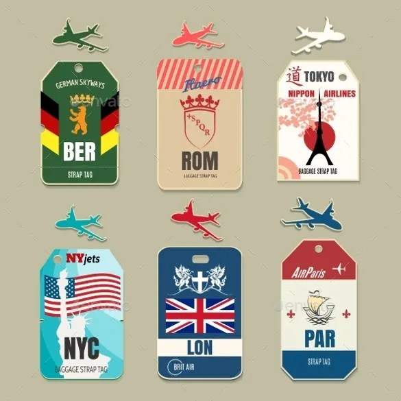 Luggage Tag Template - Free PSD Templates Download Free  Premium