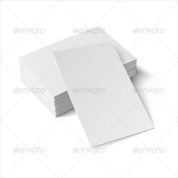 stack of blank business cards vector illustrated trading card - blank card template