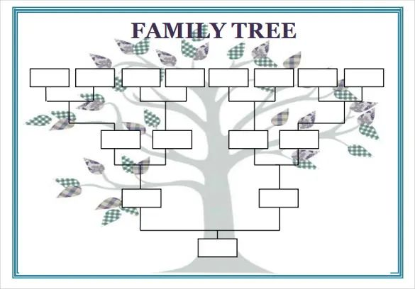 family tree template doc