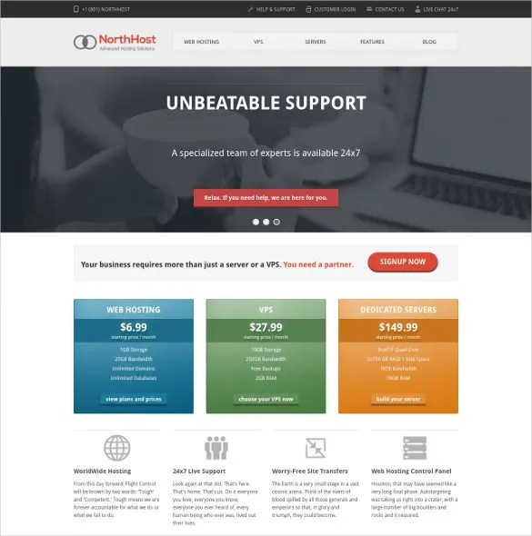 15+ Hosting PHP Themes  Templates Free  Premium Templates
