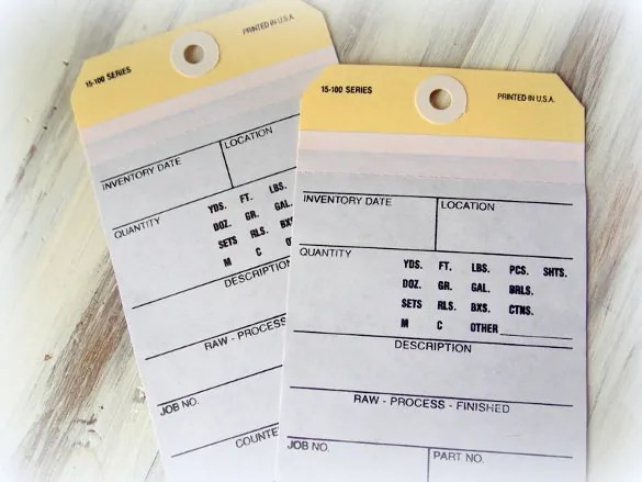 19+ Inventory Tag Template - Free Printable Vector EPS Format