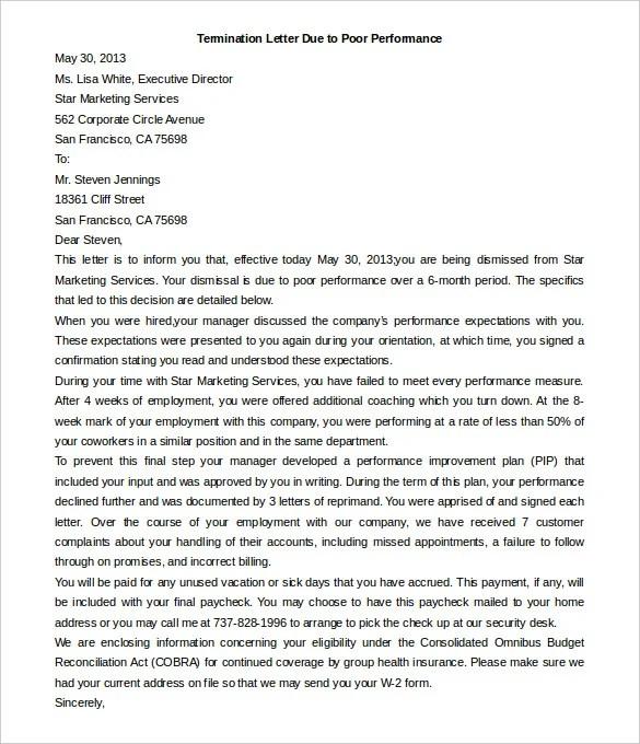 23+ Free Termination Letter Templates - PDF, DOC Free  Premium
