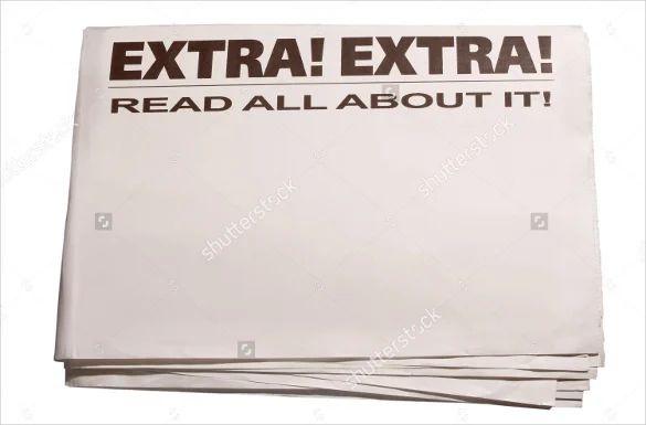blank newspaper ad template