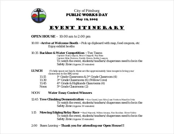 Birthday Itinerary Template \u2013 10+ Word, PDF Documents Download - birthday itinerary template