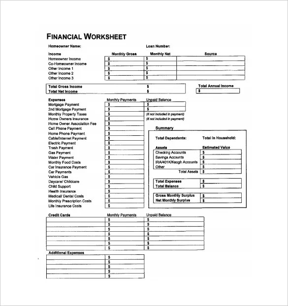 Accounting Spreadsheet Template - 8+ Free Excel, PDF Documents
