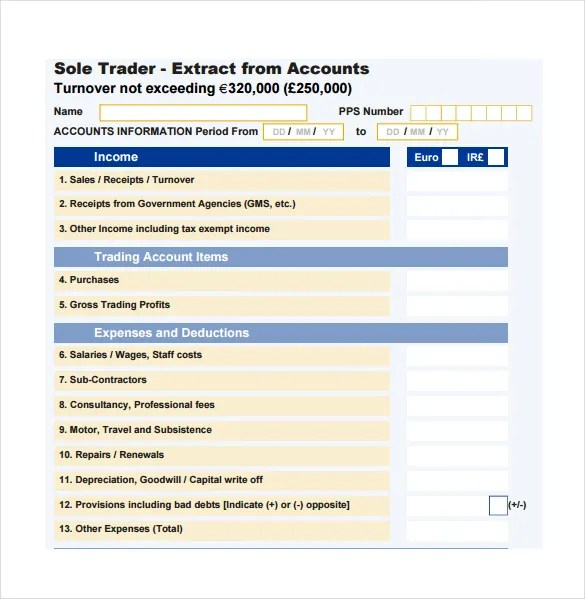 Accounting Spreadsheet Template - 7+ Free Excel, PDF Documents