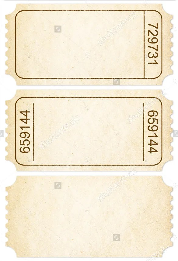 ticket paper template - Bire1andwap - ticket paper template