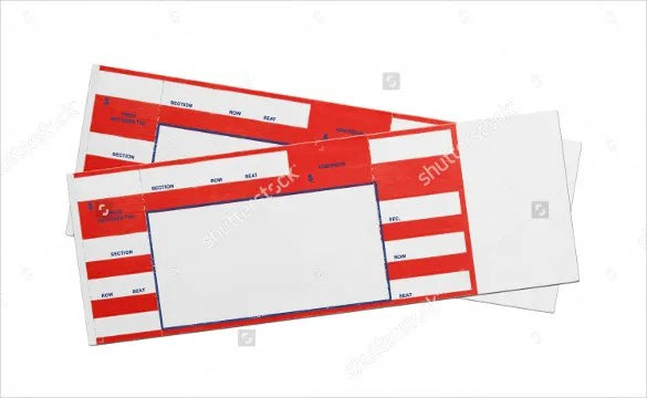 Blank Ticket Templates \u2013 29+ Free PSD, Vector EPS, AI, Word Format