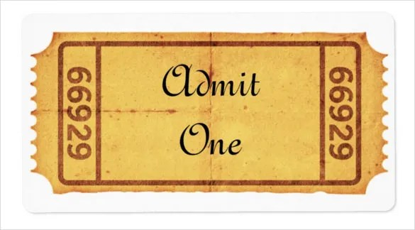 Blank Ticket Templates \u2013 29+ Free PSD, Vector EPS, AI, Word Format - admission tickets template