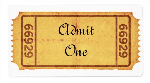 Blank Ticket Templates \u2013 29+ Free PSD, Vector EPS, AI, Word Format