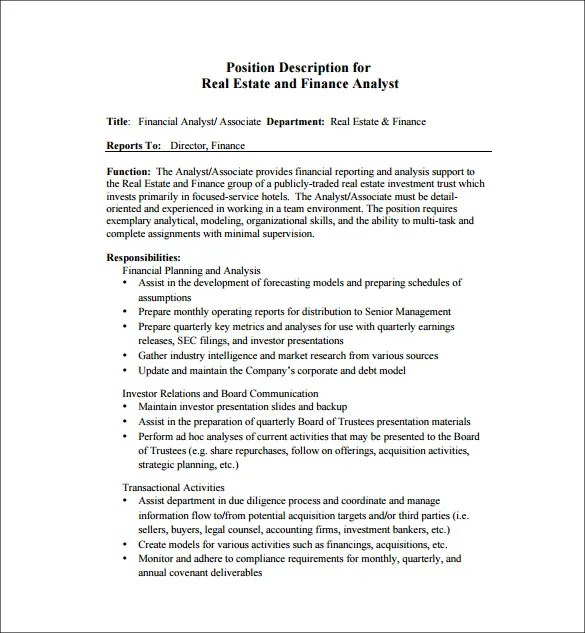 Activity Director Job Description Child Care Assistant Program - director of finance resume