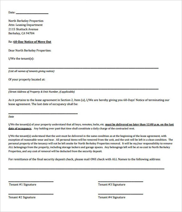 9+ Rental Termination Letter Templates - Free Sample, Example Format