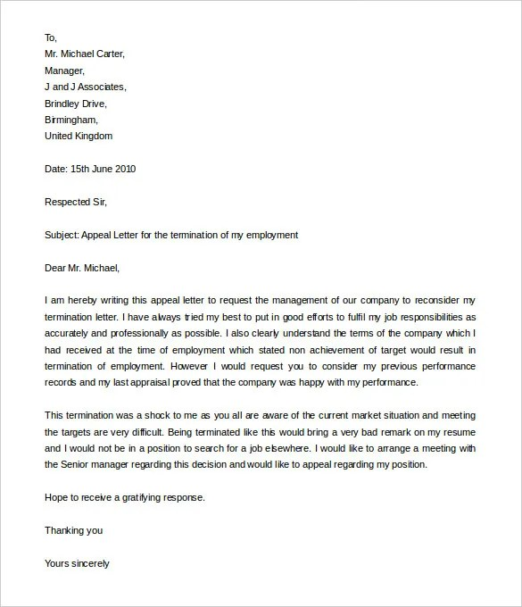 10+ Job Termination Letter Templates - DOC, PDF, AI Free  Premium - job termination letter