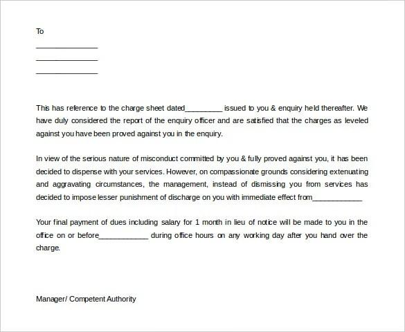 10+ Job Termination Letter Templates - DOC, PDF, AI Free  Premium