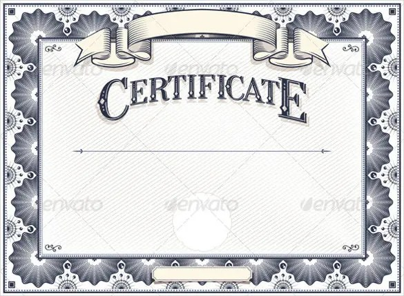 36+ Blank Certificate Template - Free PSD, Vector EPS, AI, Format - blank certificate template