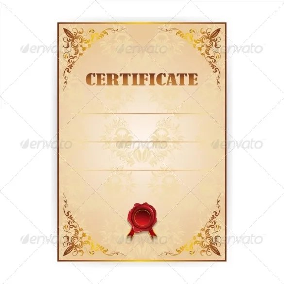 36 Blank Certificate Template Free Psd Vector Eps Ai