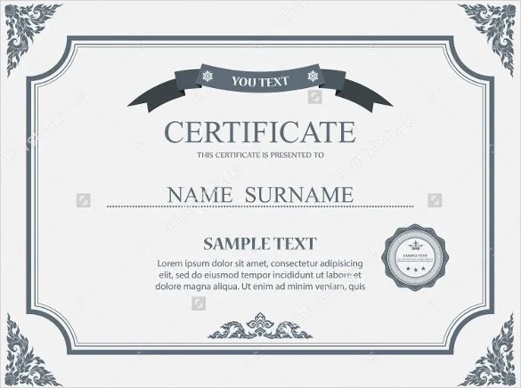 36+ Blank Certificate Template - Free PSD, Vector EPS, AI, Format