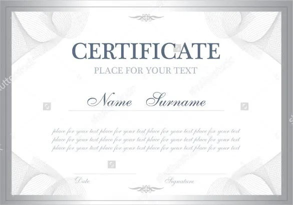 Blank Certificate Template todaysclix