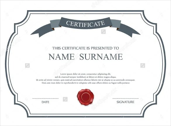 33+ Blank Certificate Template - Free PSD, Vector EPS, AI, Format - blank certificates template