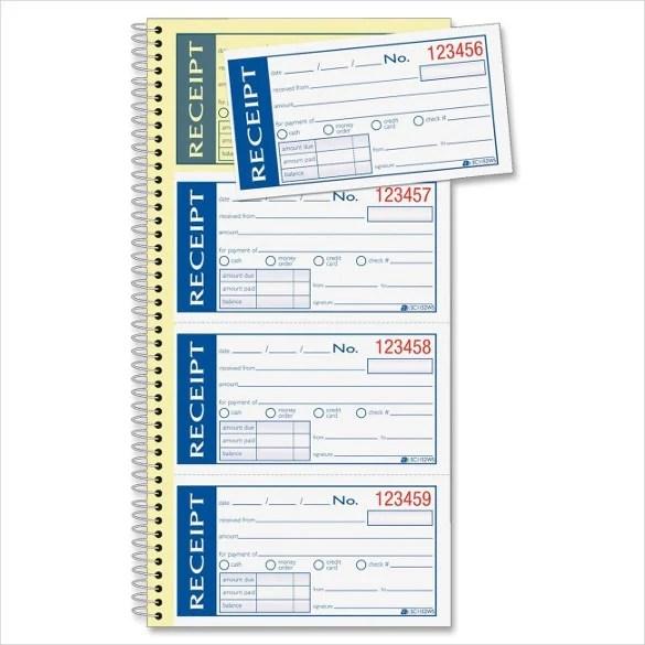 Blank Receipt Template u2013 23+ Free Word, Excel, PDF, Vector EPS - free receipt book