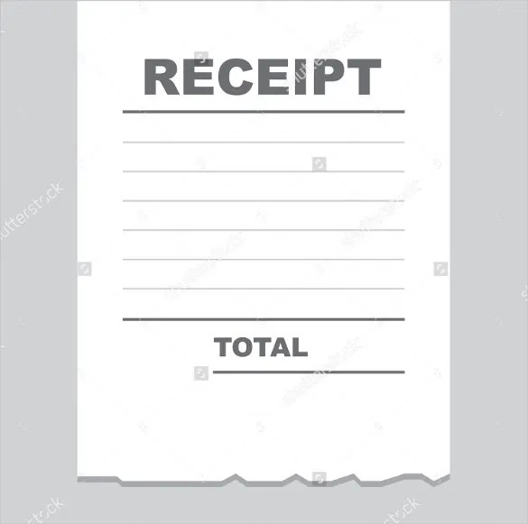 Blank Receipt Template \u2013 25+ Free Word, Excel, PDF, Vector EPS - printable blank receipts