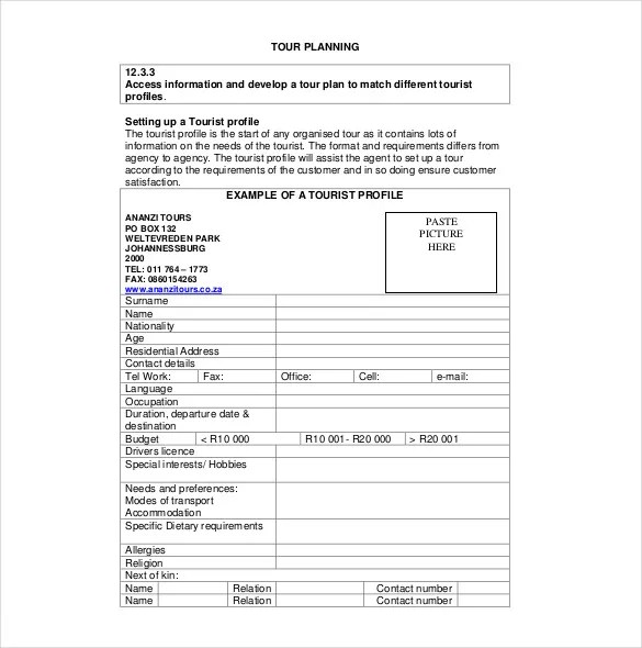 7+ Vacation Itinerary Templates \u2013 Free Sample, Example, Format