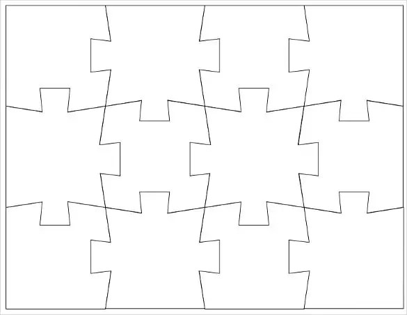 Puzzle Template, Blank Puzzle Template Free  Premium Templates