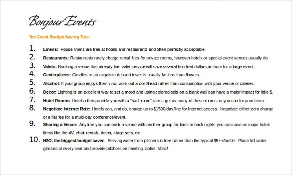 11+ Event Itinerary Templates \u2013 Sample, Example, Format Downloads