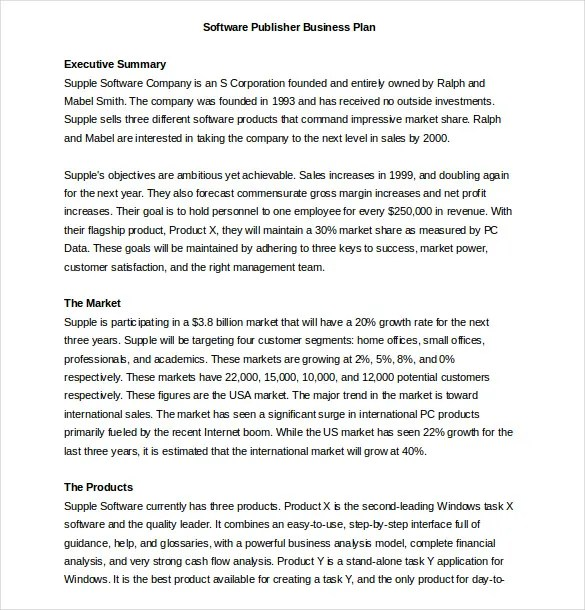 Business Proposal Template - 39+ Free Word, PDF documents Download - how to write financial plan in business