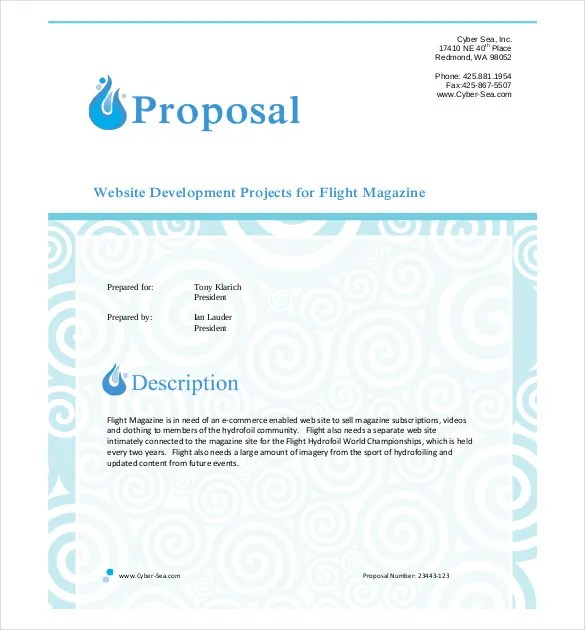 Business Proposal Template - 39+ Free Word, PDF documents Download - Free Sample Business Proposals