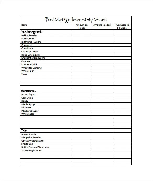 sample inventory sheet - Maggilocustdesign - Inventory Sheet Sample