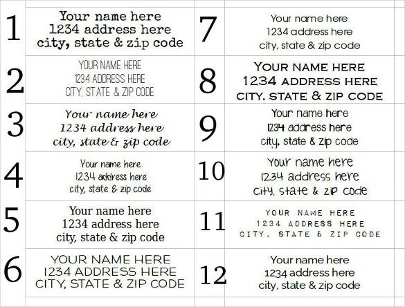 holiday address labels template