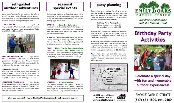 Birthday Party Itinerary Template  14 Birthday Itinerary Templates